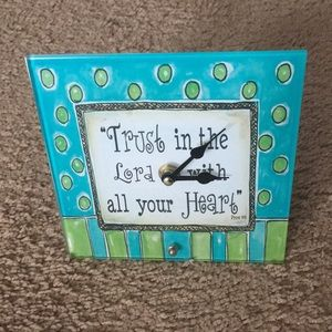 Scriptural Inspirational Clock (Battery Operated)